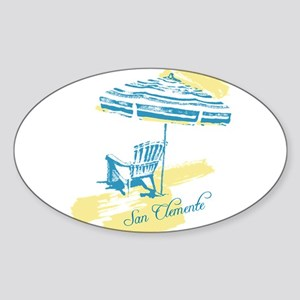 Serenity San Clemente Sticker (Oval)