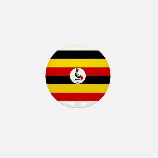 Uganda - National Flag - Current Mini Button