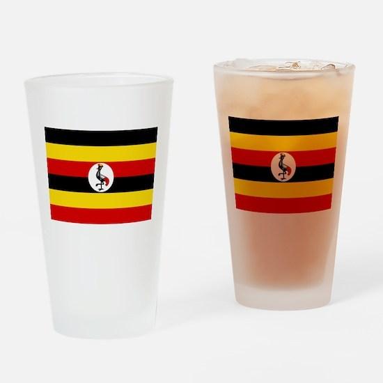 Uganda - National Flag - Current Drinking Glass