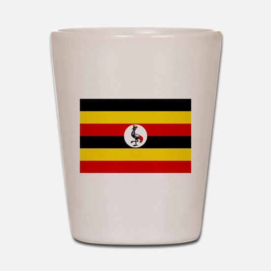 Uganda - National Flag - Current Shot Glass
