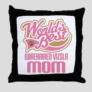 Wirehaired Vizsla Mom Throw Pillow