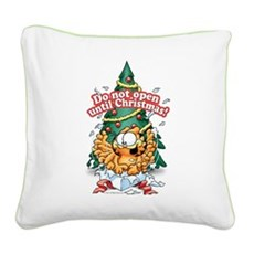 Do Not Open Until Christmas Square Canvas Pillow