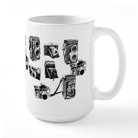 Vintage Cameras Large Mug