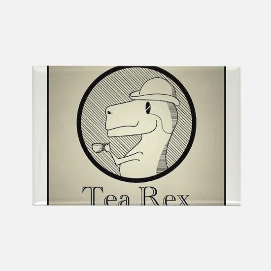 Tea Rex Rectangle Magnet