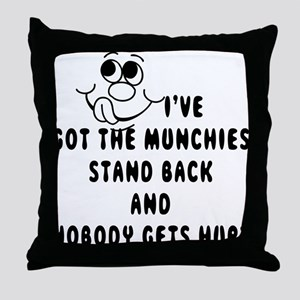 Cannabis Munchies Throw Pillow