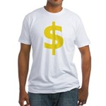 Dollar Sign Symbol Fitted T-Shirt