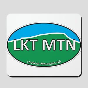 Lookout Mountain GA Green & Blue Euro Mousepad