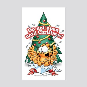Do Not Open Until Christmas Sticker (Rectangle)