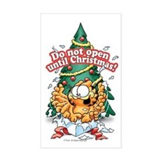 Do Not Open Until Christmas Sticker (Rectangle)