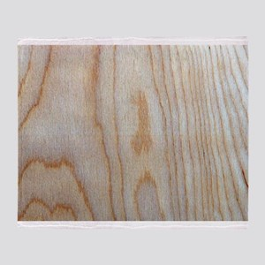 Wood Grain Loves Stain Designer Throw Blanket