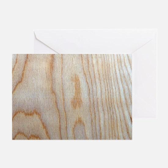 Chic Unique Wood Grain Designer Greeting Cards