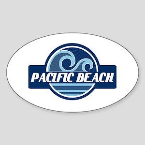 Pacific Beach Surfer Pride Sticker (Oval)