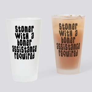 Funny Stoner Drinking Glass