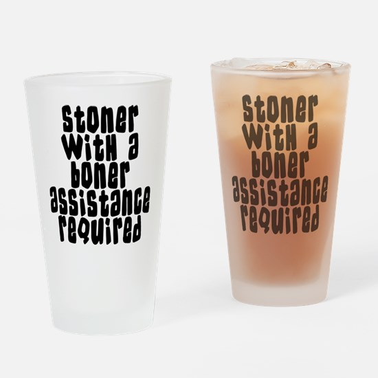 Funny Stoner Drinking Glass