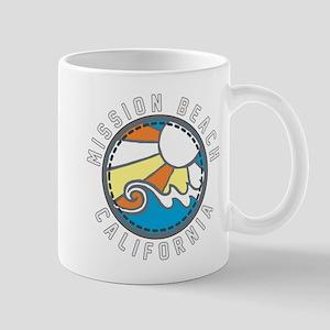 Mission Beach Wave Badge Mug