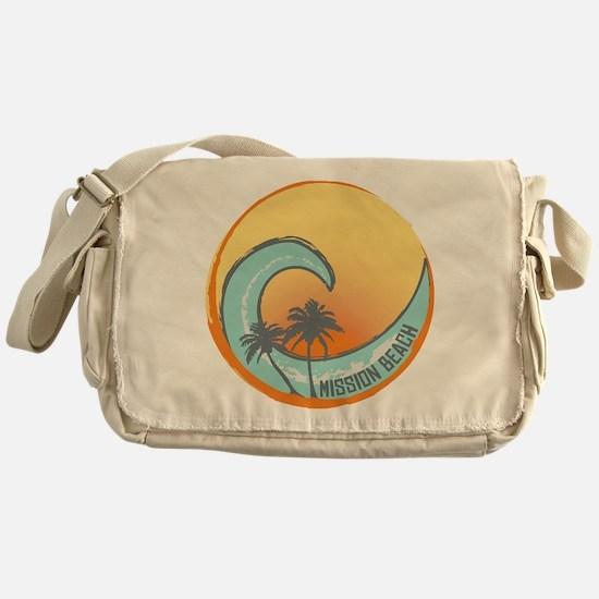 Mission Beach Sunset Crest Messenger Bag