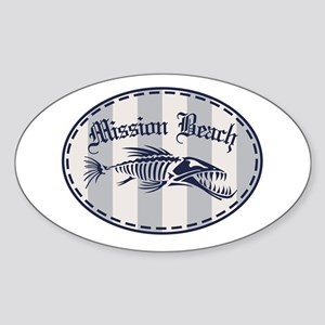Mission Beach Bonefish Sticker (Oval)