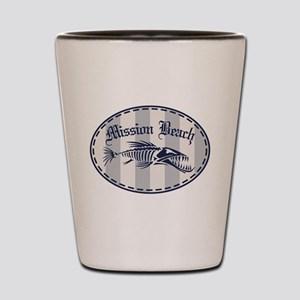 Mission Beach Bonefish Shot Glass
