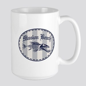Mission Beach Bonefish Large Mug