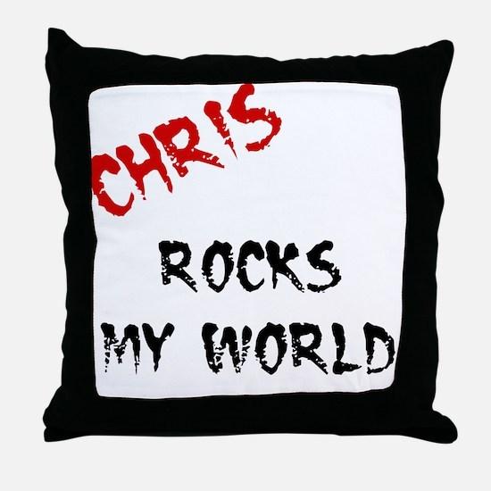 Chris Rocks Throw Pillow