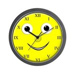 Smiley Roman Numeral Wall Clock