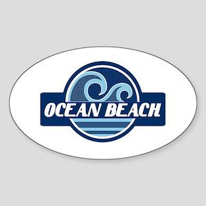 Ocean Beach Surfer Pride Sticker (Oval)