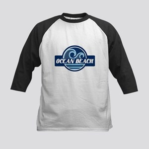 Ocean Beach Surfer Pride Kids Baseball Jersey