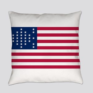 USA - 33 Stars - Ft Sumter Everyday Pillow