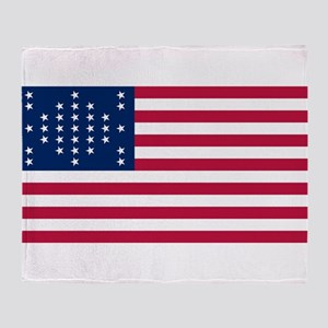 USA - 33 Stars - Ft Sumter Throw Blanket