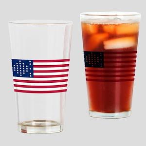 USA - 33 Stars - Ft Sumter Drinking Glass