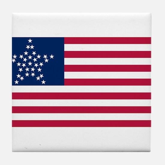 USA - 33 Stars - Great Star Version Tile Coaster