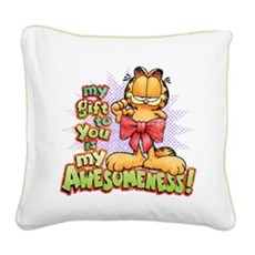 My Awesomeness Square Canvas Pillow