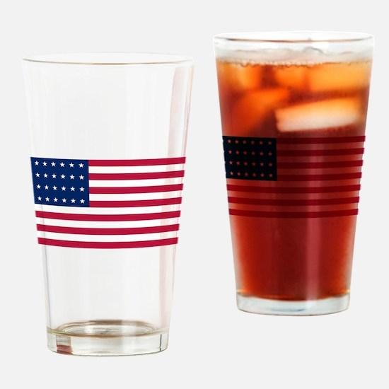 USA - 28 Stars Drinking Glass