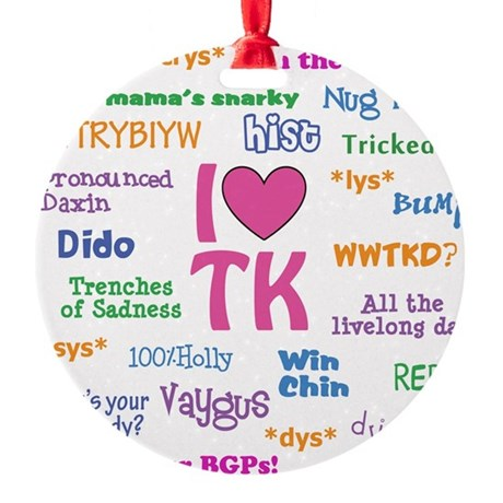 TK-10x10.psd Round Ornament