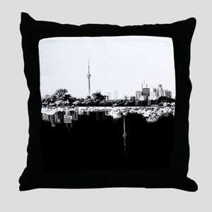 Toronto Reflection B&W Throw Pillow
