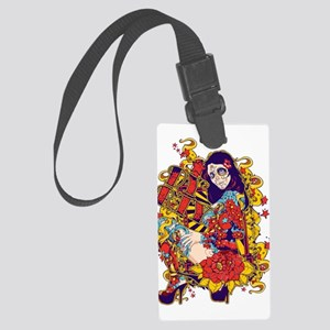 Tattooed Dirty Girl Large Luggage Tag