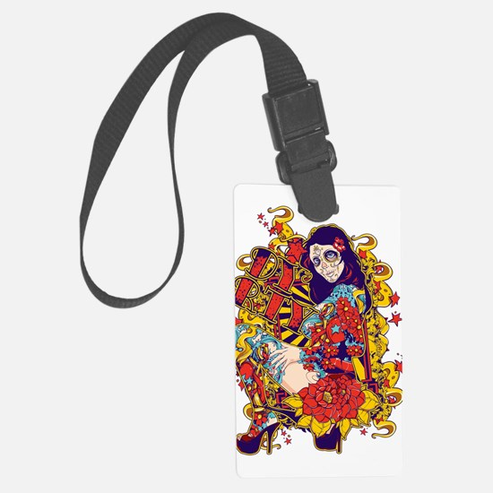 Tattooed Dirty Girl Luggage Tag