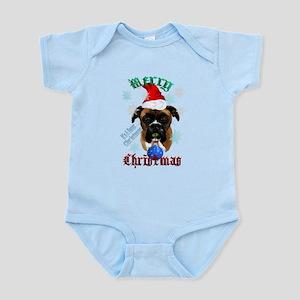 Merry Christmas-Santa Boxer Trans Infant Bodys