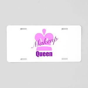 Makeup Queen Aluminum License Plate