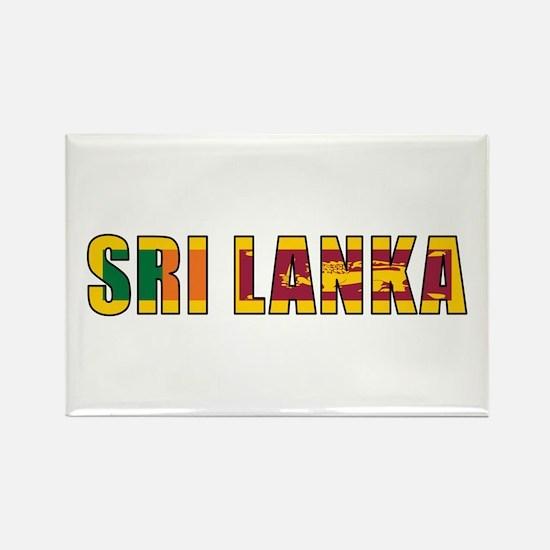 Sri Lanka Rectangle Magnet
