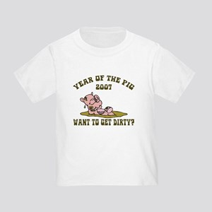 Year of The Pig 2007 Toddler T-Shirt