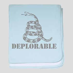 Don't Tread on Me Deplorable Snake - baby blanket