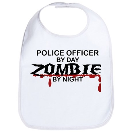 Police Officer Zombie Bib