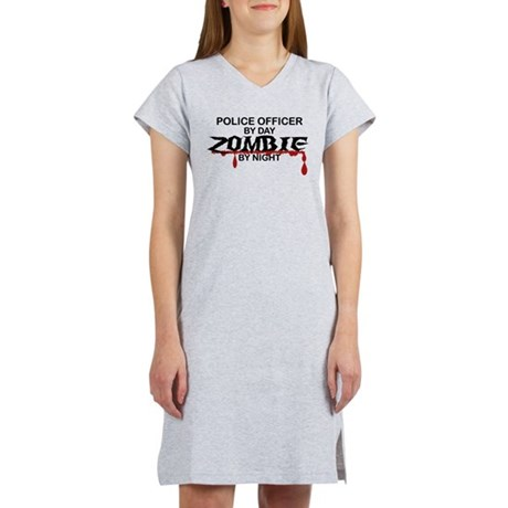 Police Officer Zombie Women's Nightshirt