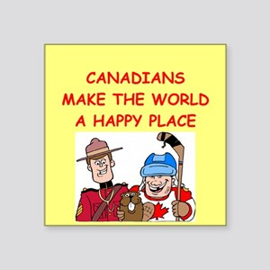 "CANADIAN Square Sticker 3"" x 3"""