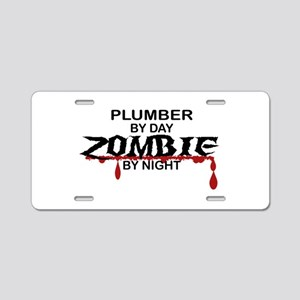 Plumber Zombie Aluminum License Plate