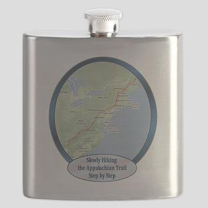 SlowlyHikingATrailShirt Flask