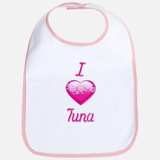 I Love/Heart Tuna Bib