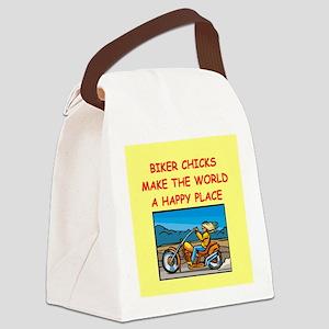 BIKERCHICK Canvas Lunch Bag