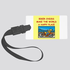 BIKERCHICK Large Luggage Tag